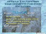 article 7 sanitation requirements for food facilities13