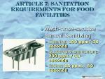 article 7 sanitation requirements for food facilities22