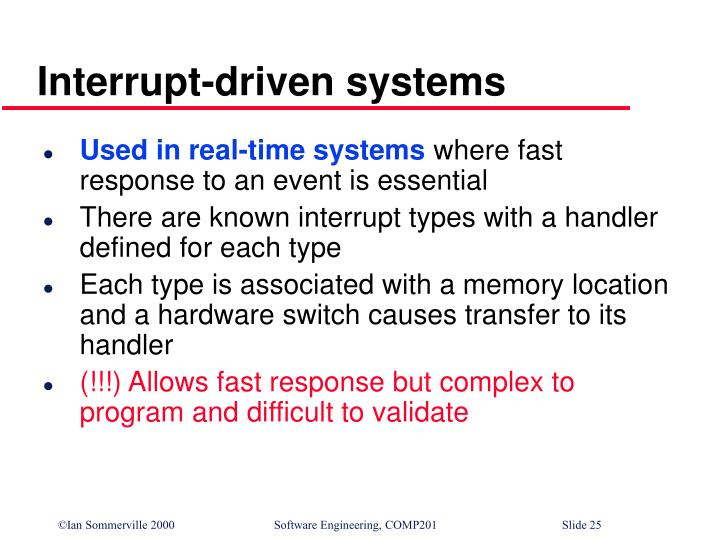 Interrupt-driven systems