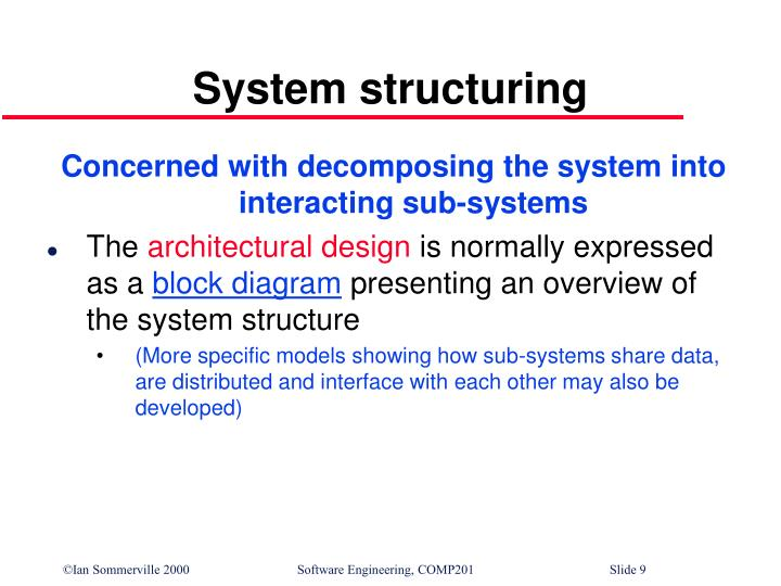 System structuring