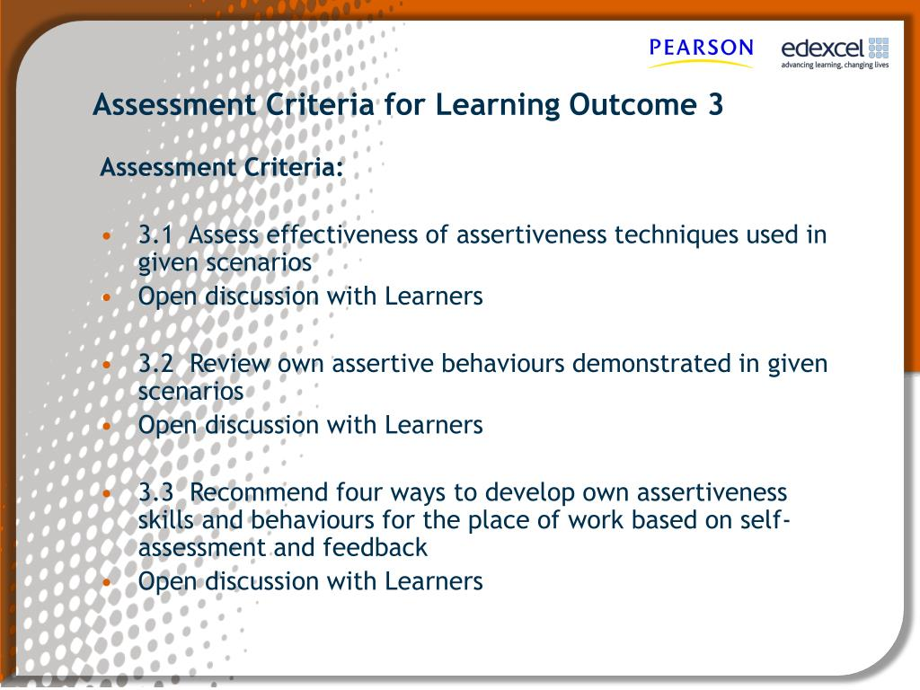 learning outcome 3
