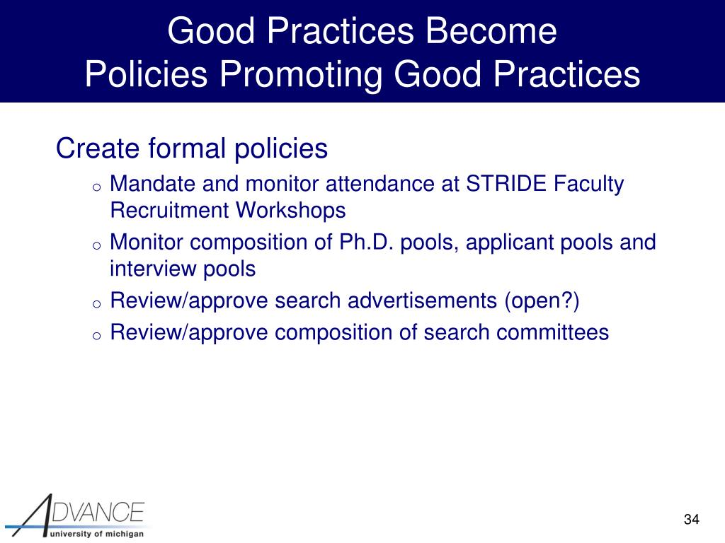 Good Practices Become