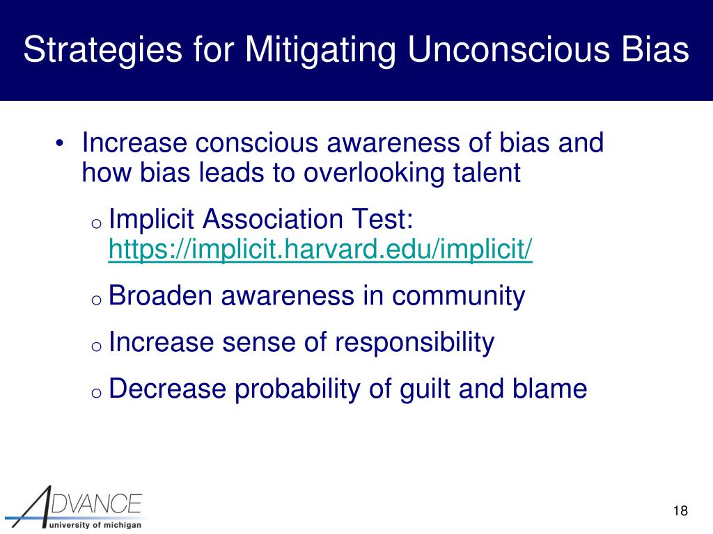 Strategies for Mitigating Unconscious Bias