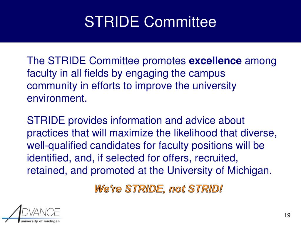 STRIDE Committee