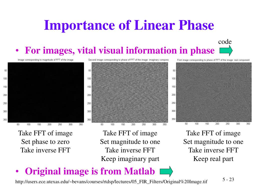 Importance of Linear Phase