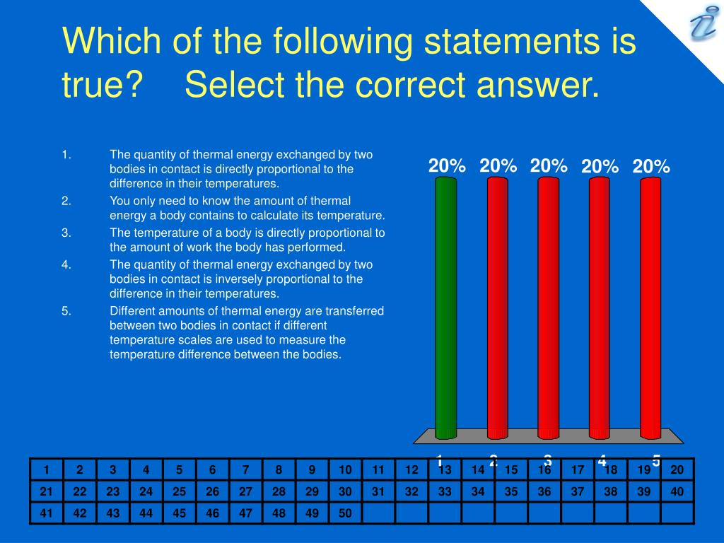 Which of the following statements is true?    Select the correct answer.