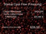 startup cash flow financing
