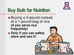 buy bulk for nutrition