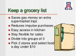 keep a grocery list