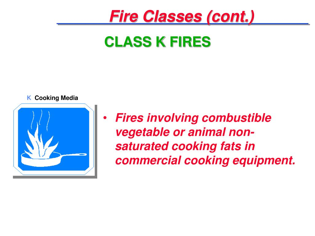 Fire Classes (cont.)