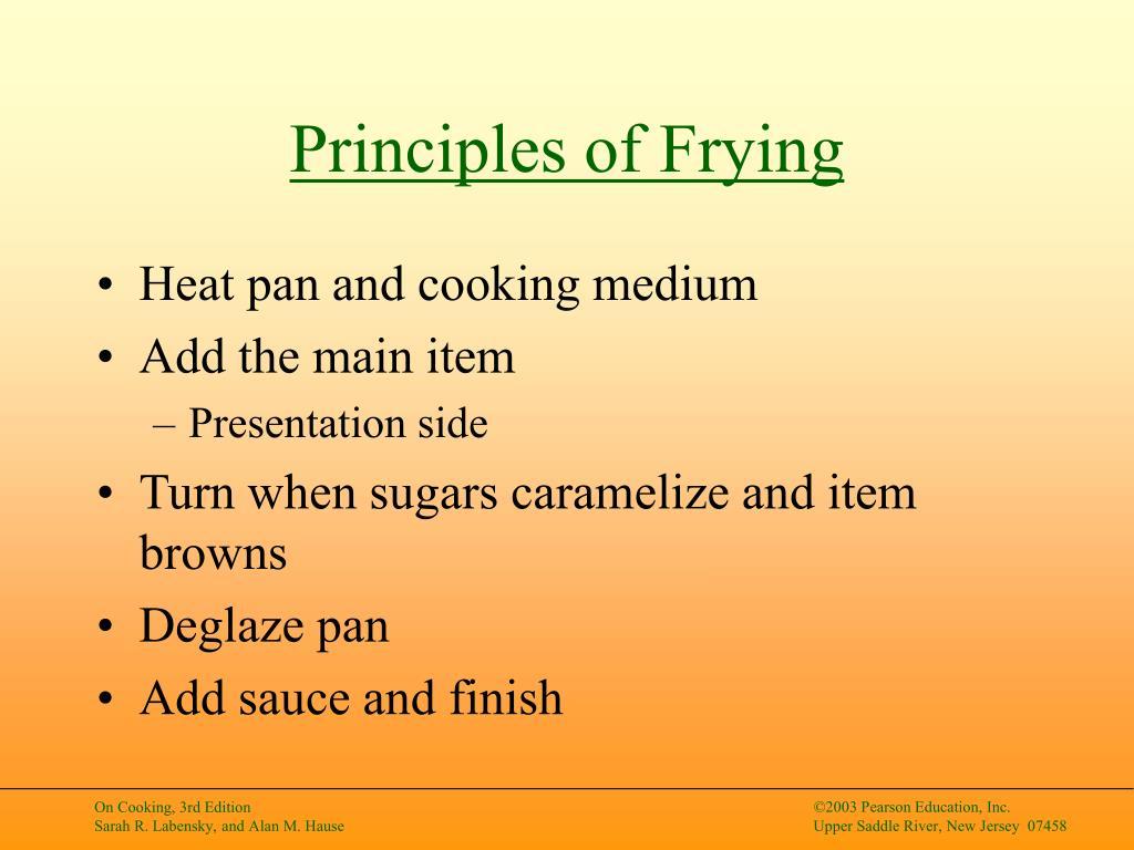 Principles of Frying