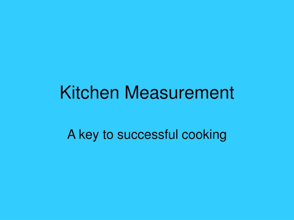 kitchen measurement l.
