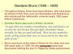 giordano bruno 1548 1600
