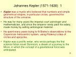 johannes kepler 1571 1630 1
