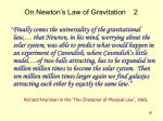on newton s law of gravitation 2