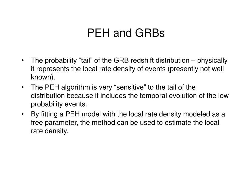 PEH and GRBs