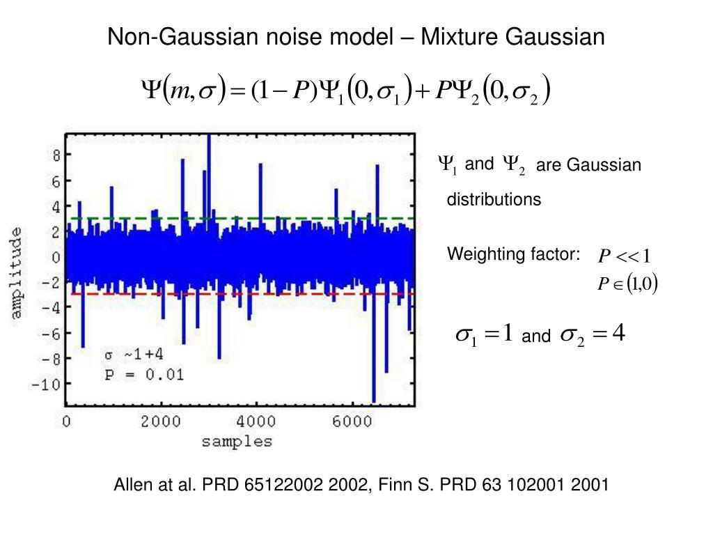 Non-Gaussian noise model – Mixture Gaussian
