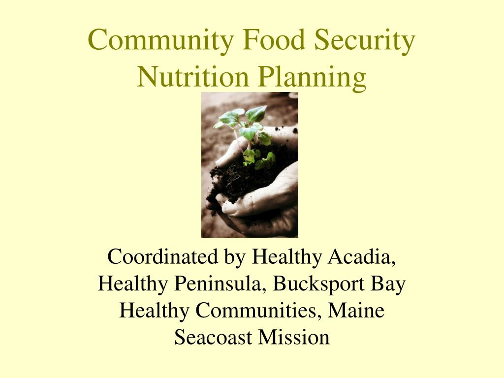 community food security nutrition planning l.