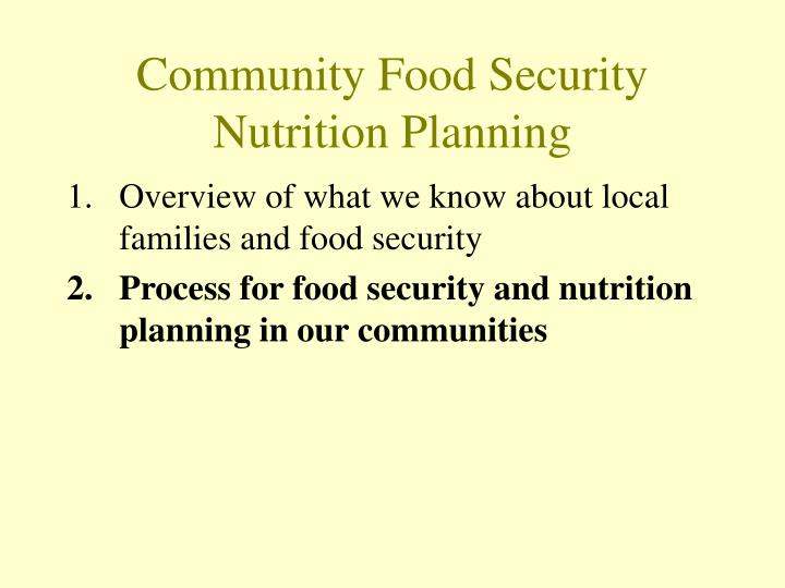 Community food security nutrition planning3