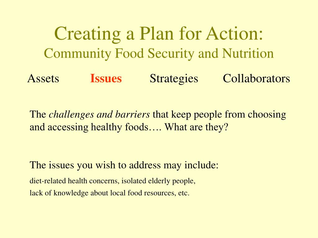 Creating a Plan for Action: