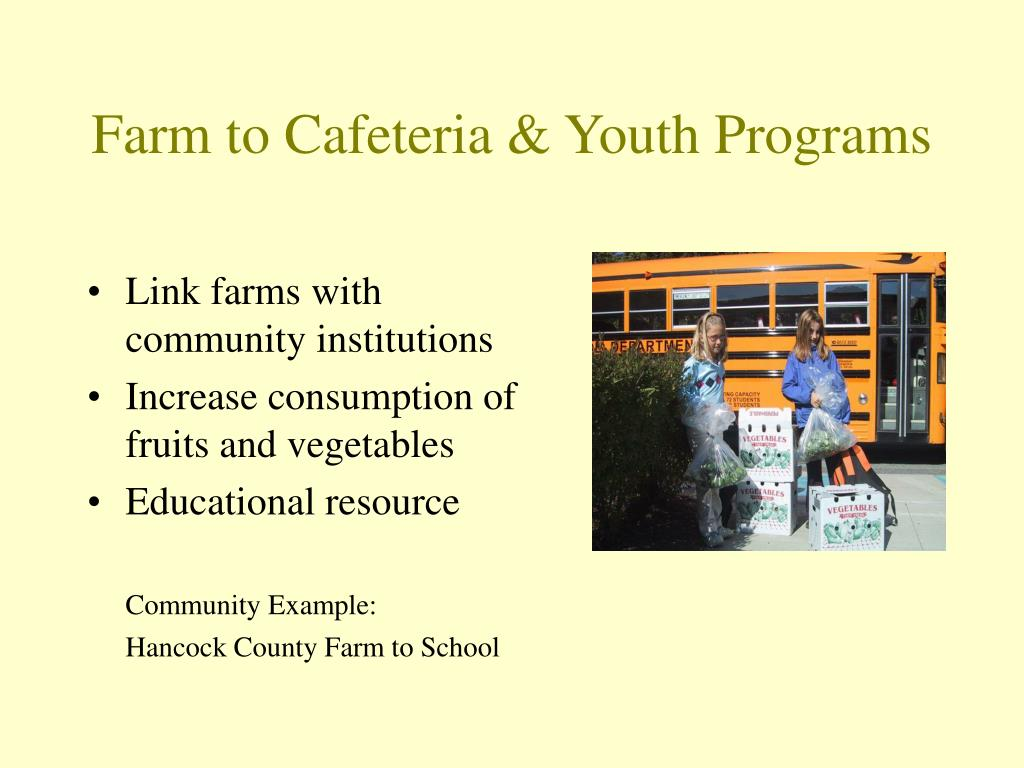 Farm to Cafeteria & Youth Programs