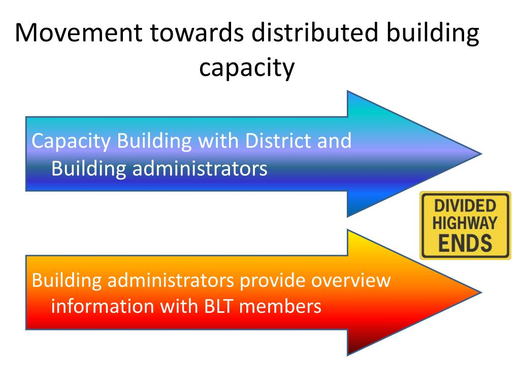 Movement towards distributed building capacity