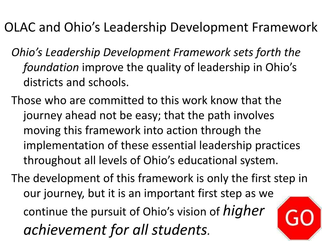 OLAC and Ohio's Leadership Development Framework