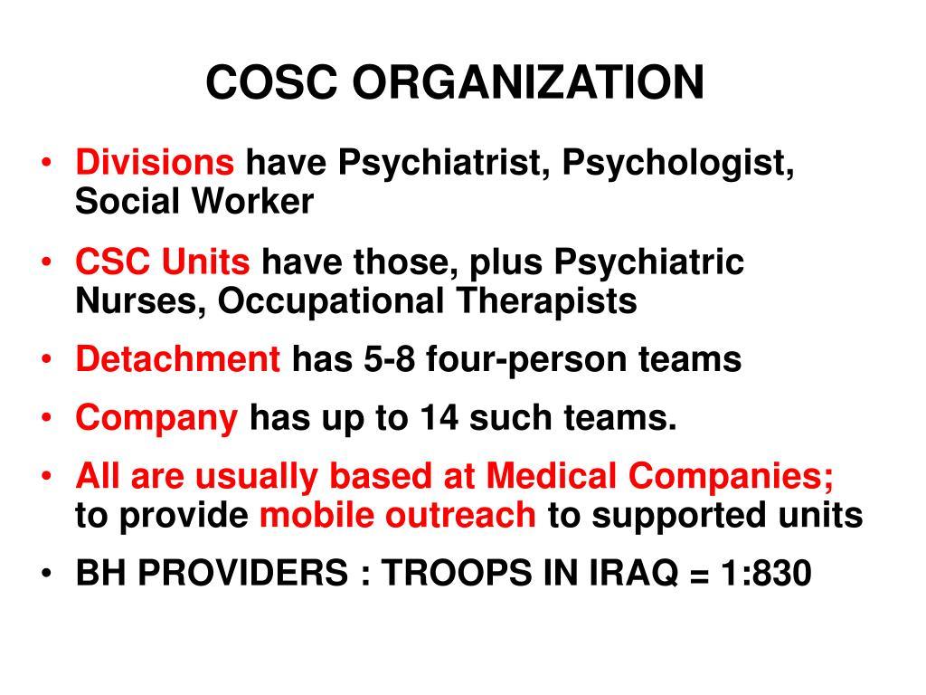COSC ORGANIZATION