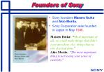 founders of sony