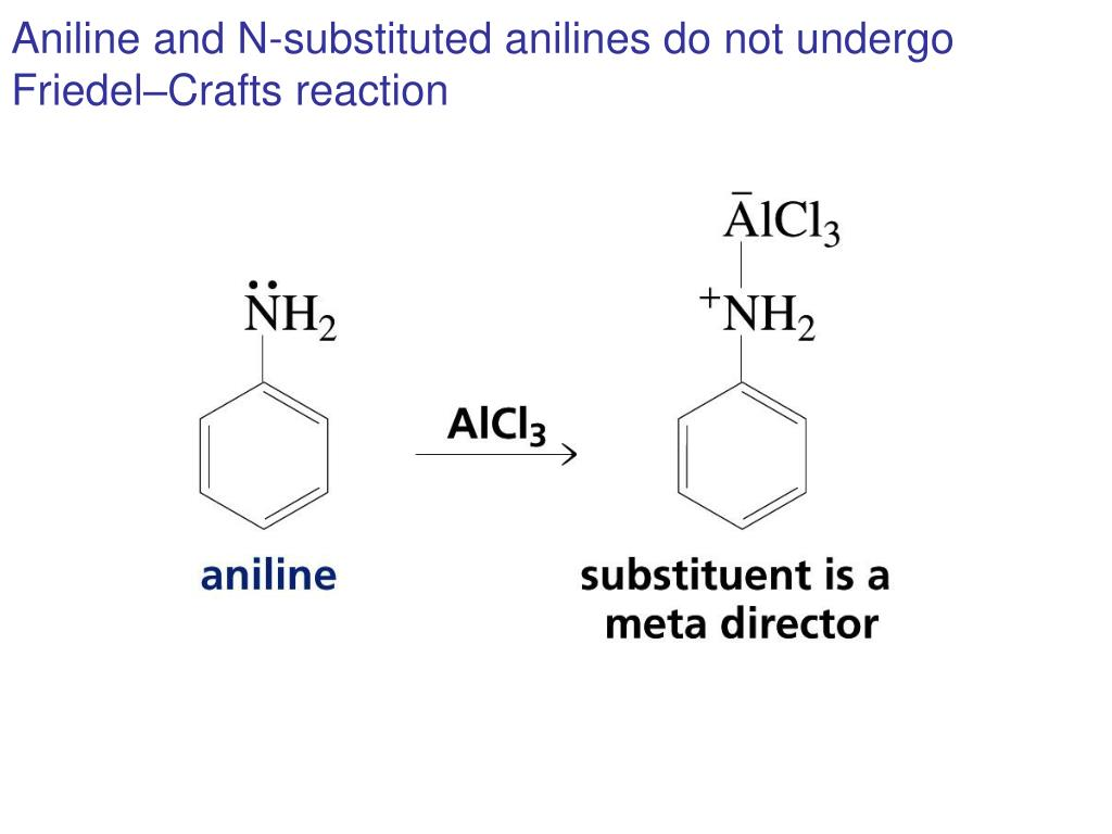 Aniline and N-substituted anilines do not undergo