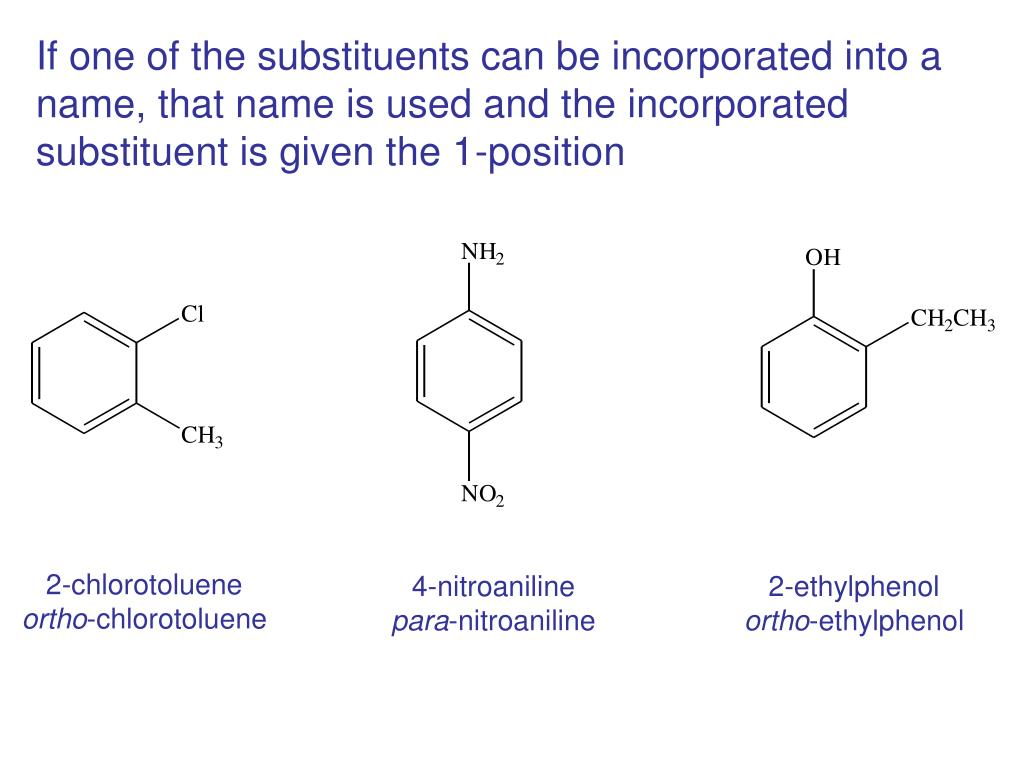 If one of the substituents can be incorporated into a