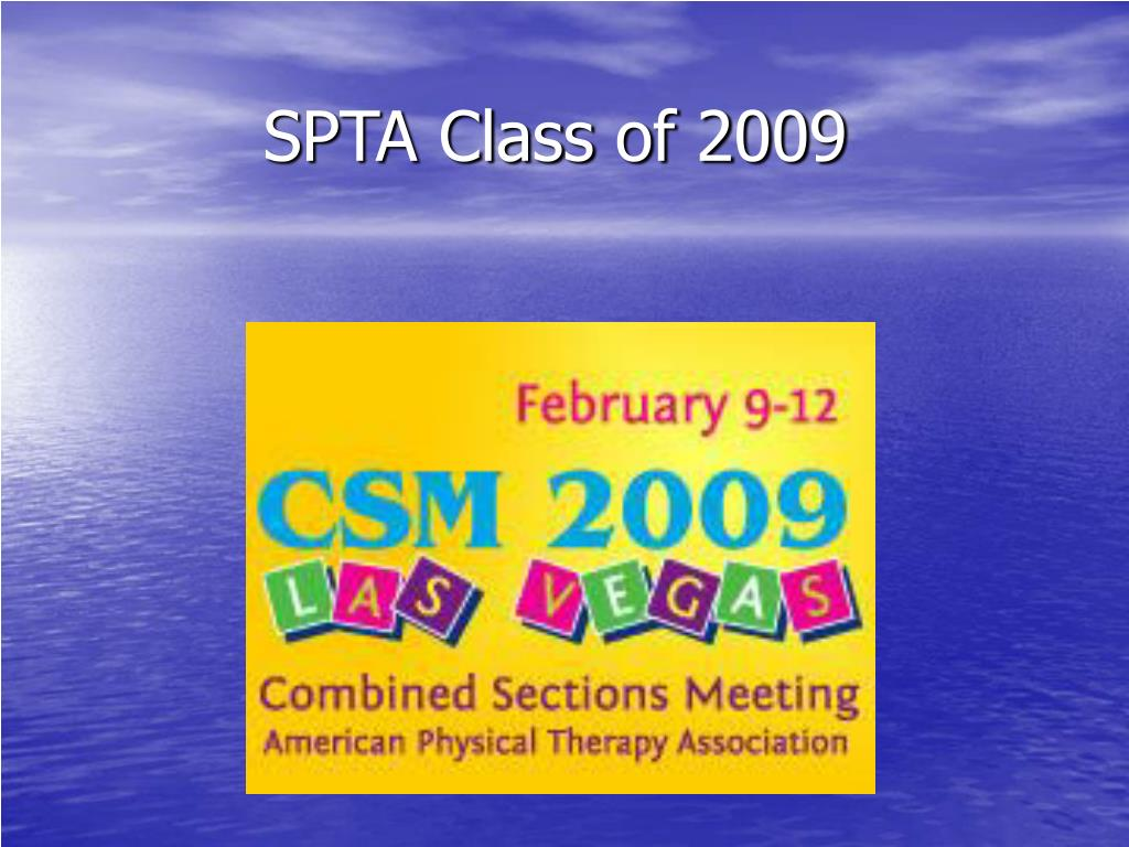 spta class of 2009 l.