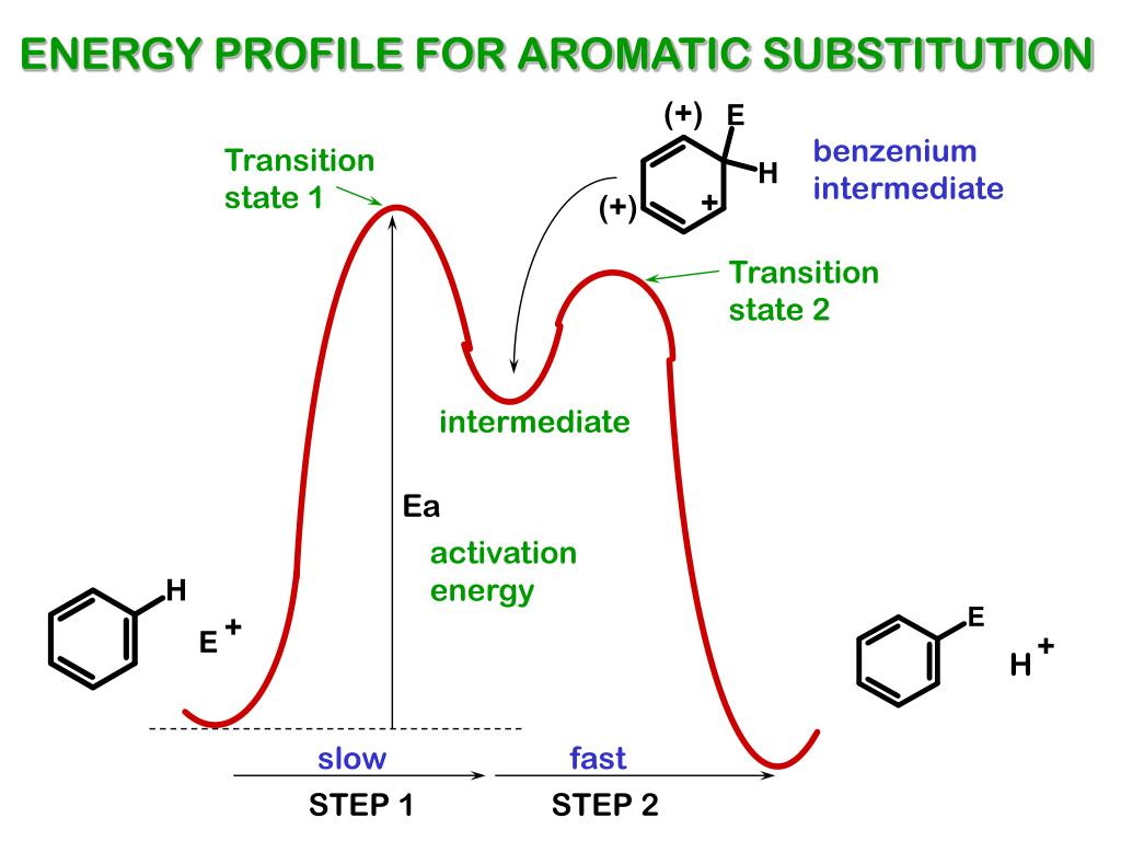 ENERGY PROFILE FOR AROMATIC SUBSTITUTION