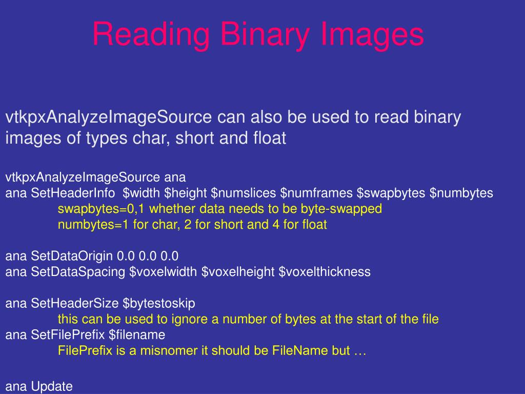 Reading Binary Images