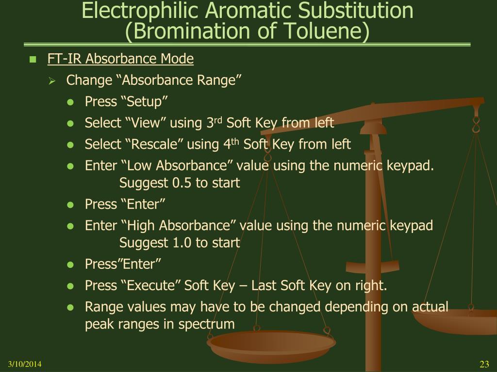 electrophillic aromatic substitution