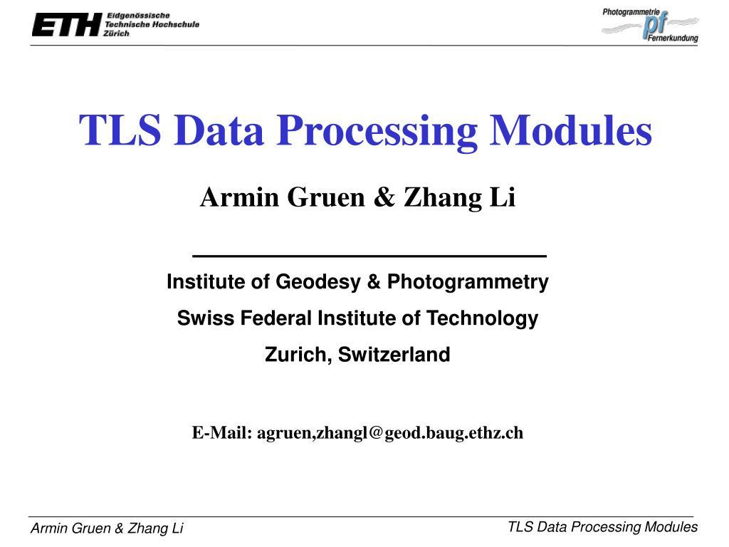 tls data processing modules l.