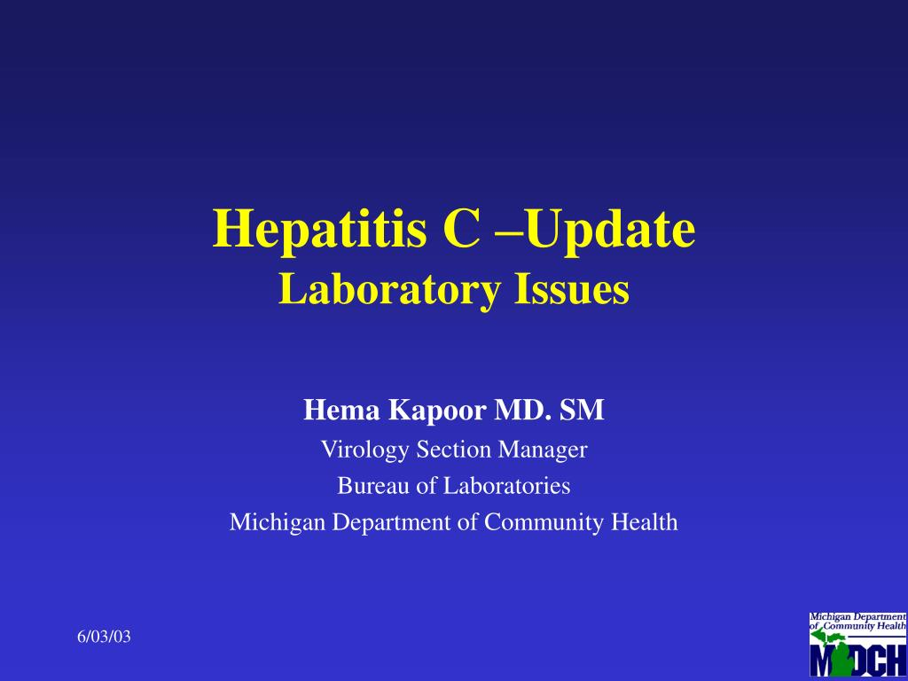hepatitis c update laboratory issues l.
