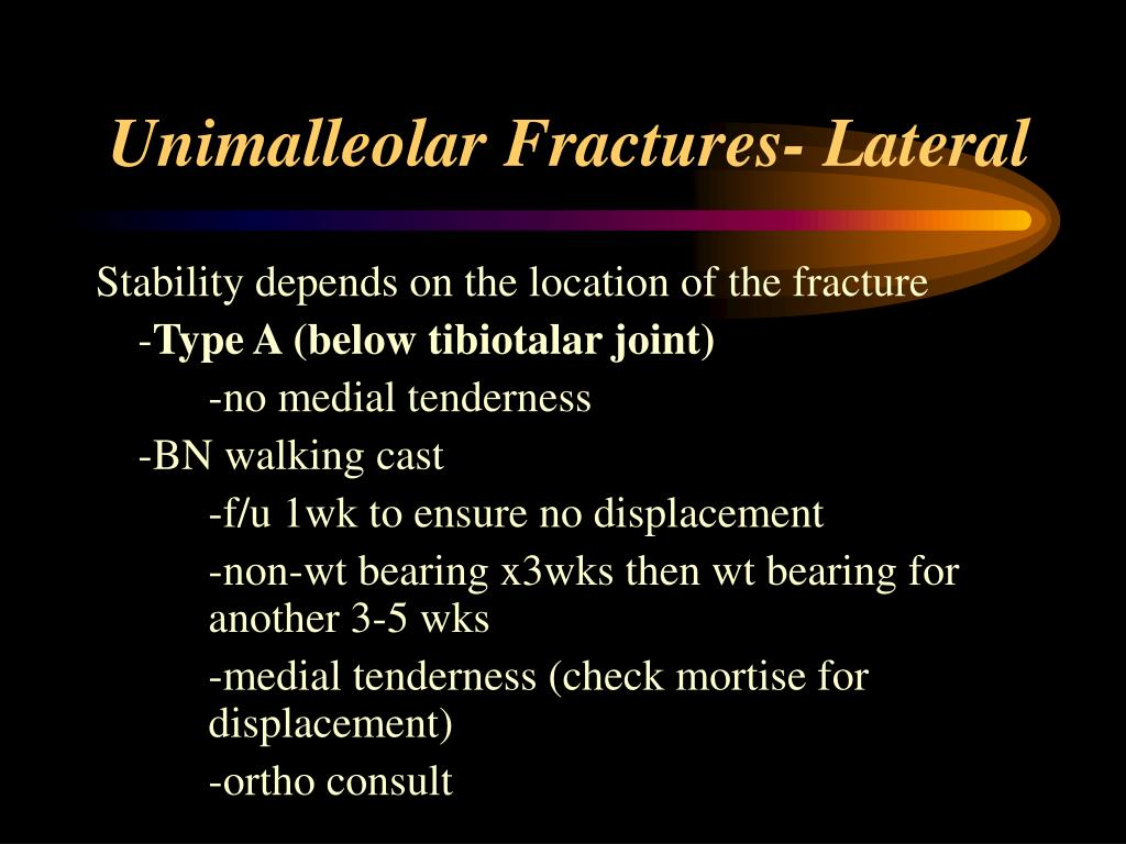 Unimalleolar Fractures- Lateral