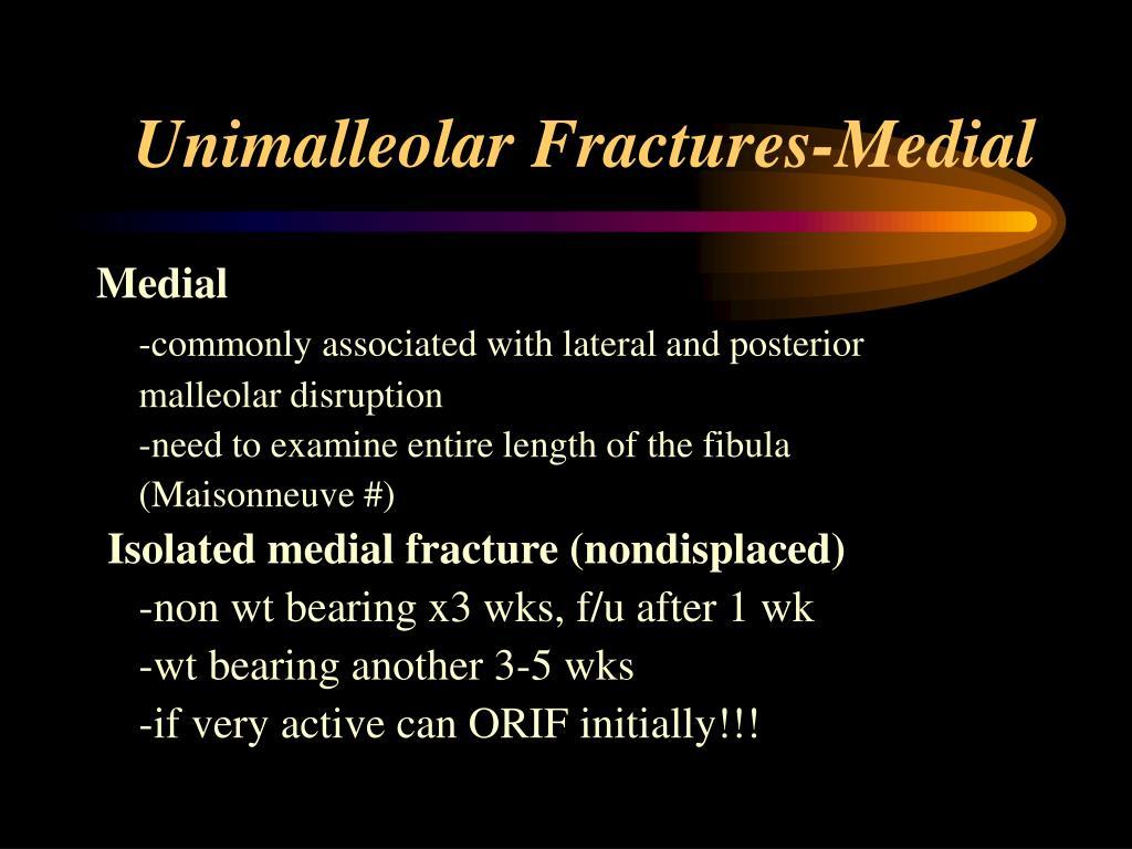 Unimalleolar Fractures-Medial