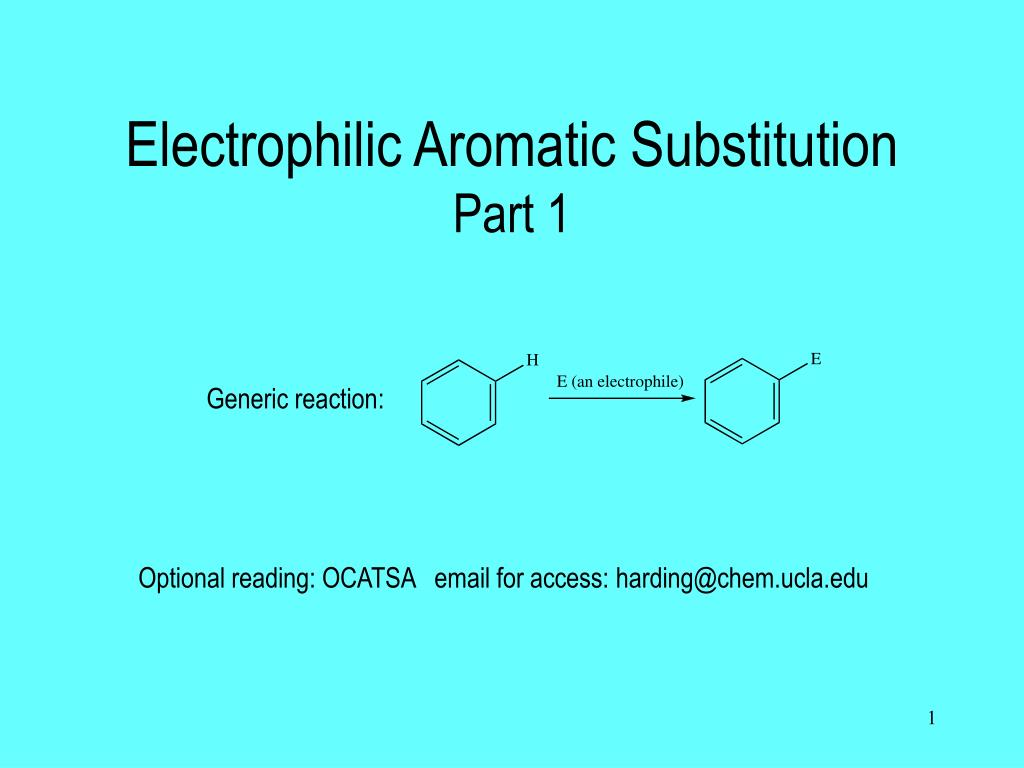 electrophilic aromatic substitution part 1 l.