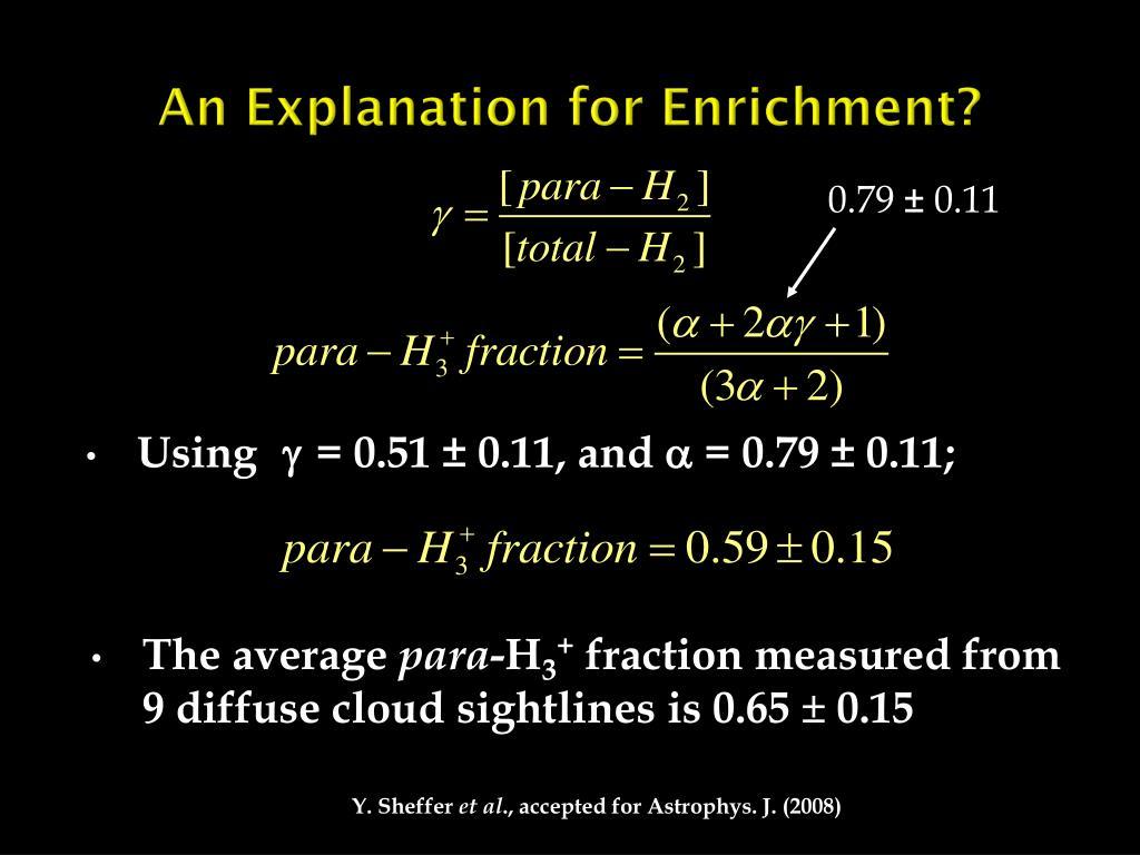 An Explanation for Enrichment?