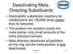 deactivating meta directing substituents