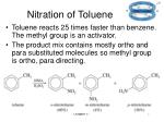 nitration of toluene