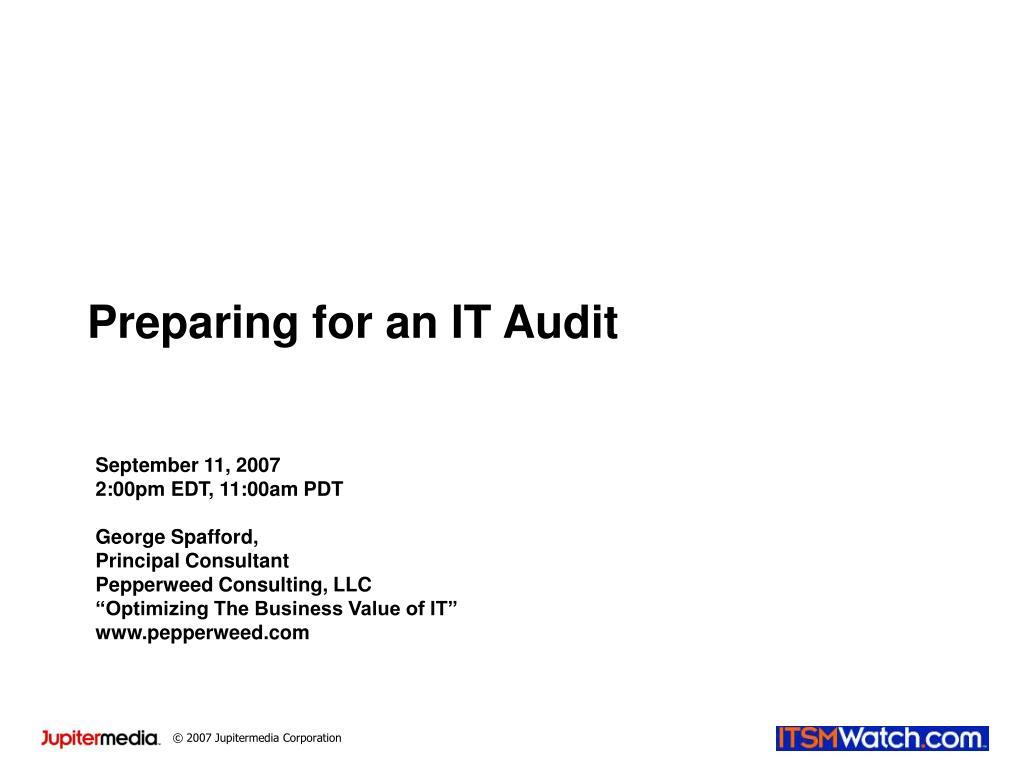 preparing for an it audit