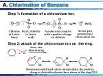 a chlorination of benzene