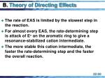 b theory of directing effects