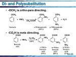 di and polysubstitution
