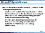 di and polysubstitution27