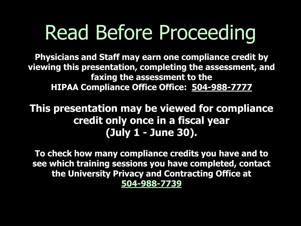 Read Before Proceeding