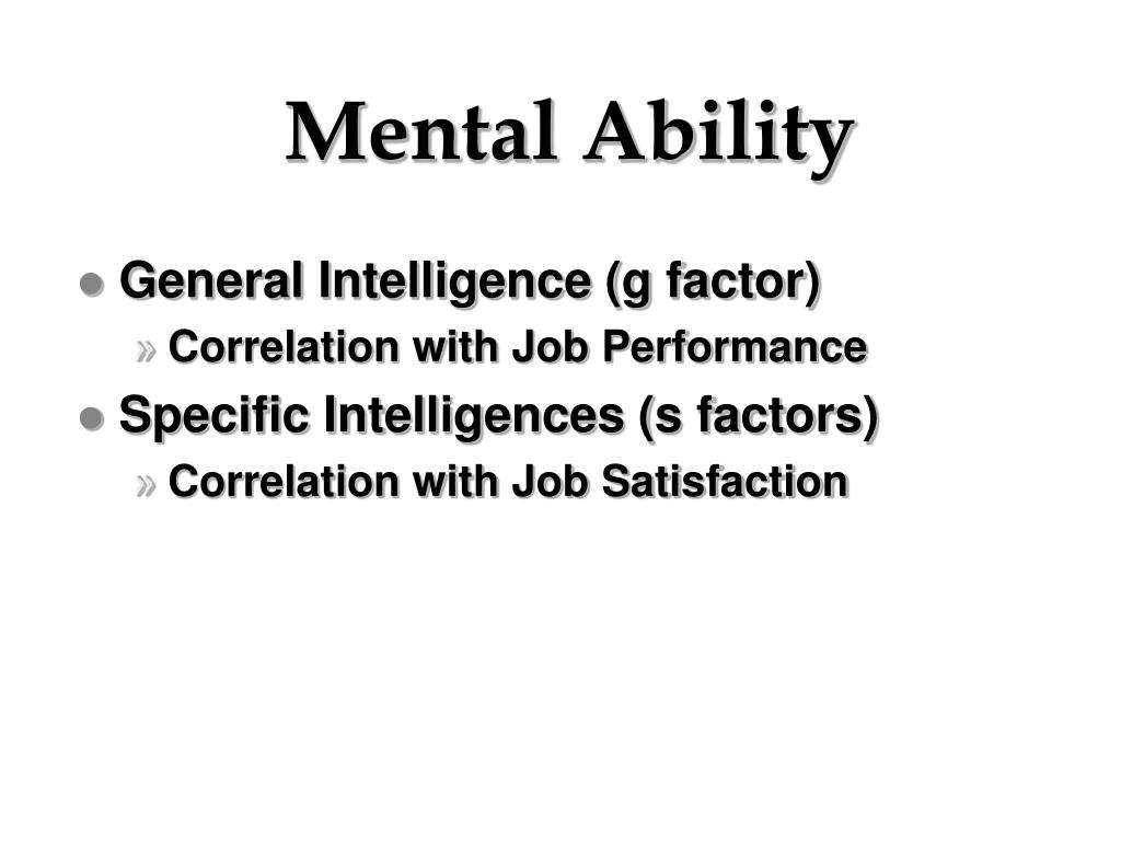 Mental Ability